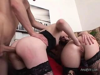 Freaky Sluts Get Unqualified Dirty Beside Hung Stud